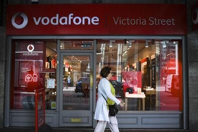 LONDON, July 3, 2019 (Xinhua) -- A woman walks past a Vodafone store in London, Britain, July 3, 2019. Vodafone UK on Wednesday switched on its 5G service, becoming the second UK mobile operator to turn on its 5G network relying on Huawei equipment. (Xinhua/Alberto Pezzali/IANS)