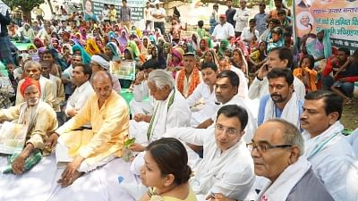 Farmers stage protest in Lucknow, demand higher MSP