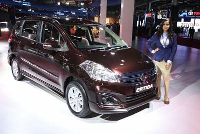 Greater Noida: Maruti Suzuki Ertiga at the Auto Expo 2018 in Greater Noida, Uttar Pradesh on Feb 7, 2018. (Photo: Amlan Paliwal/IANS)
