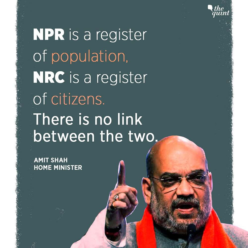 'NPR-NRC Not Linked': Shah's Remark Contradicts His Own Ministry
