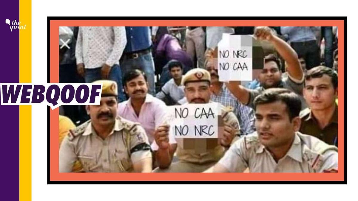 No, Police Personnel Didn't Raise Slogans Against Citizenship Act