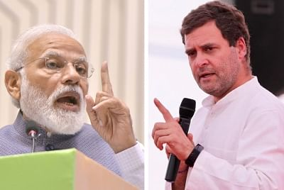 Prime Minister Narendra Modi and Congress leader Rahul Gandhi