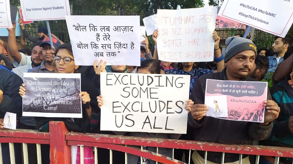 Image from anti-CAA protests outside Gandhi Ashram in Ahmedabad. Image used for representational purposes.