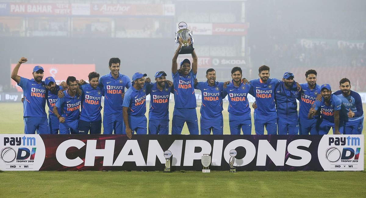 Virat Kohli scored an 85 in India's 3rd ODI victory over West Indies in Vizag on Sunday. India won the series 2-1.