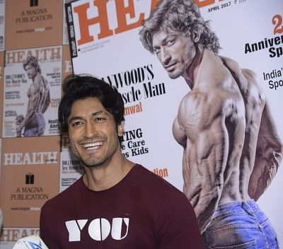 Mumbai: Actor Vidyut Jammwal during the unveiling of the March 2017 issue of Health & Nutrition magazine in Mumbai on March 23, 2017. (Photo: IANS)
