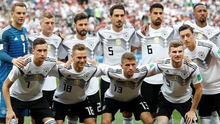 Germany have been drawn in Group F alongside holders Portugal and world champions France, with the fourth nation to be decided by a play-off.