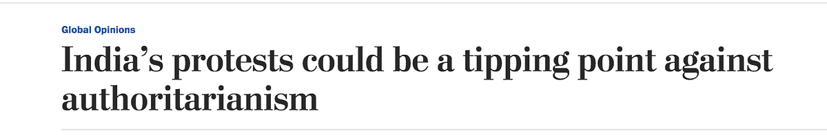 Screenshot of The Washington Post article