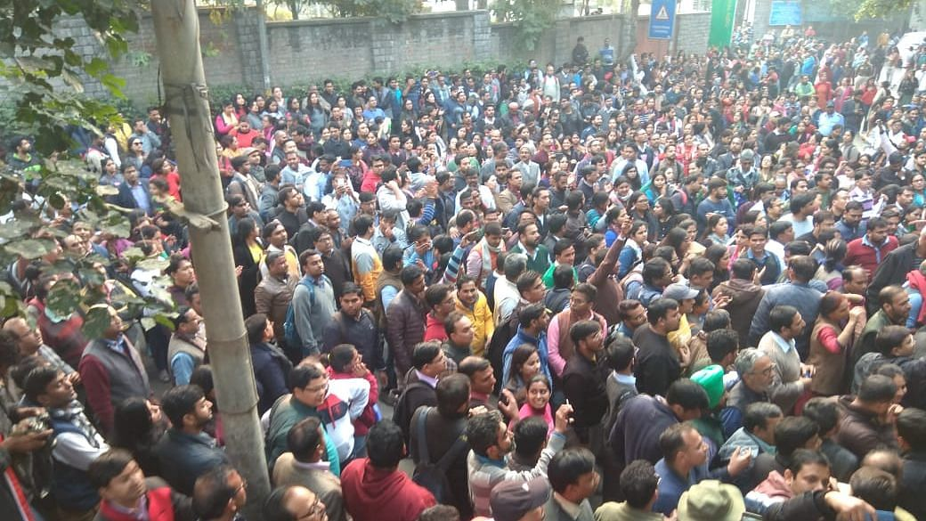 Delhi University Teachers' Association President Rajib Ray said use of force and water cannons did not deter them.