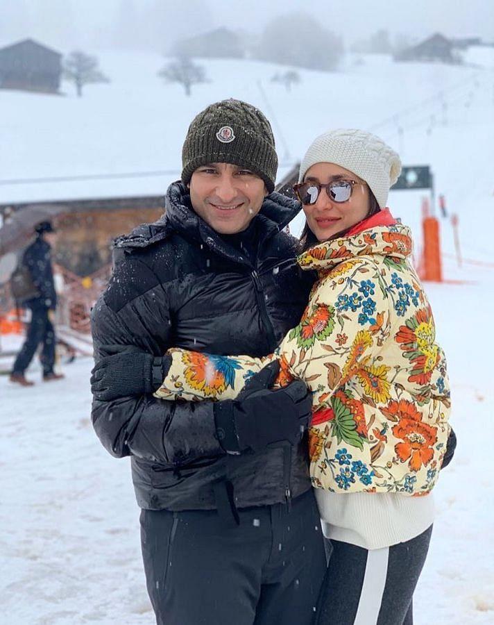 Saif Ali Khan and Kareena Kapoor enjoy their vacation in Switzerland.