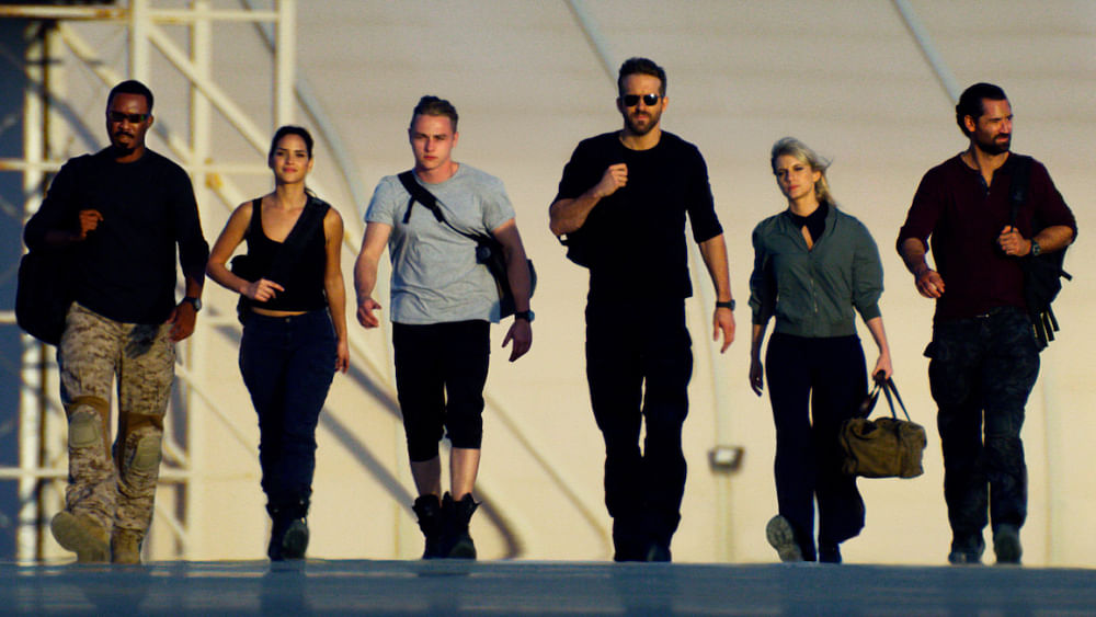 The team of six actors seem to be expected to focus on the action in the film.