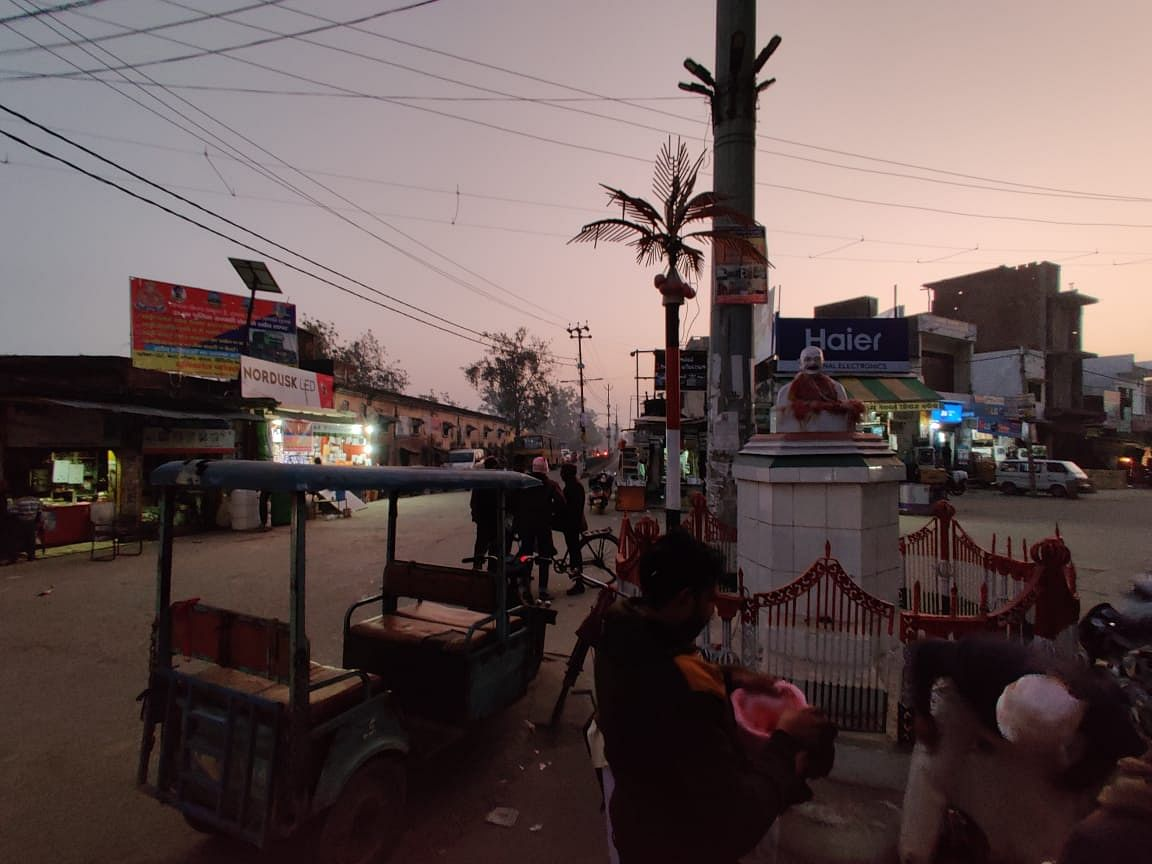This is Gandhi Chowk in Nagina, the place where protests are customarily held.