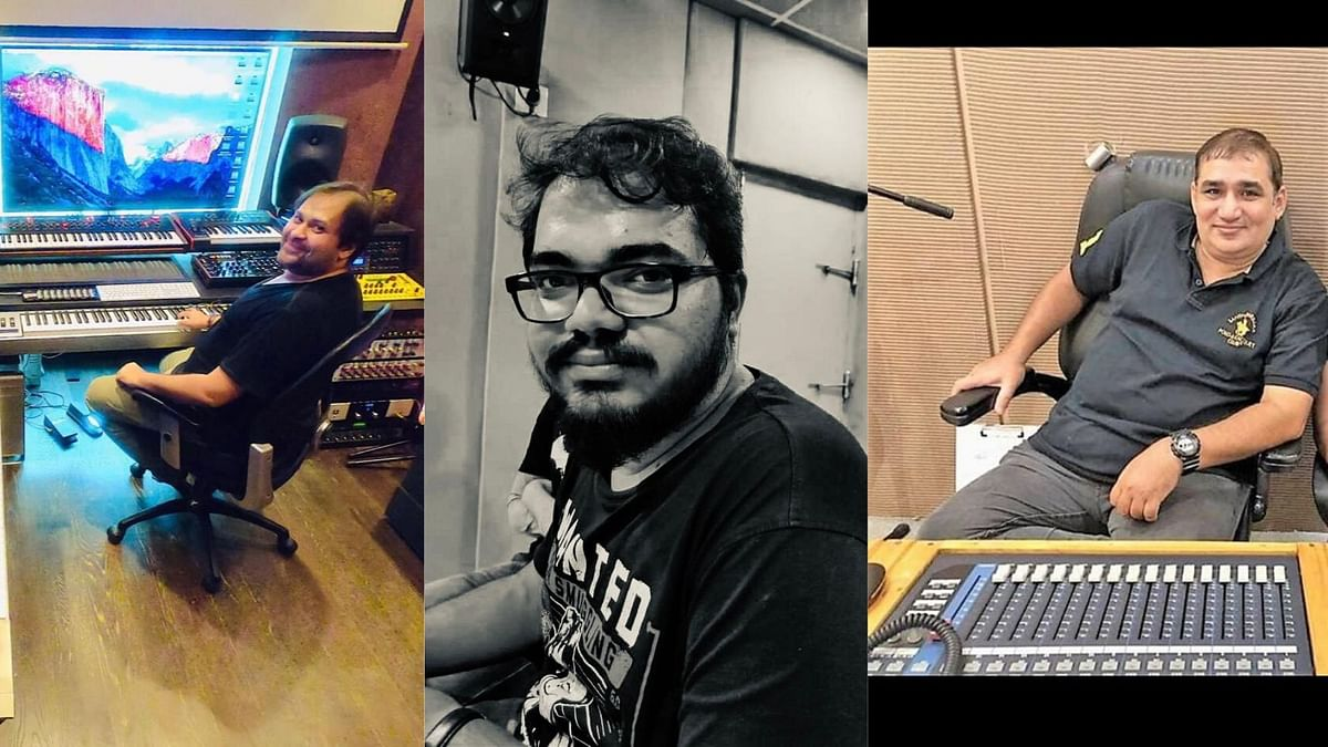 Late Bollywood sound technicians - Pritesh Mehta, Nimish Pilankar and Hanif Tak.