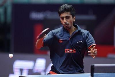Indian table tennis player Sathiyan Gnanasekaran.
