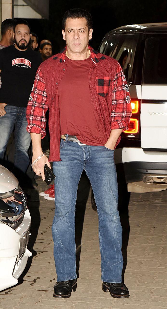 Salman Khan at the party.