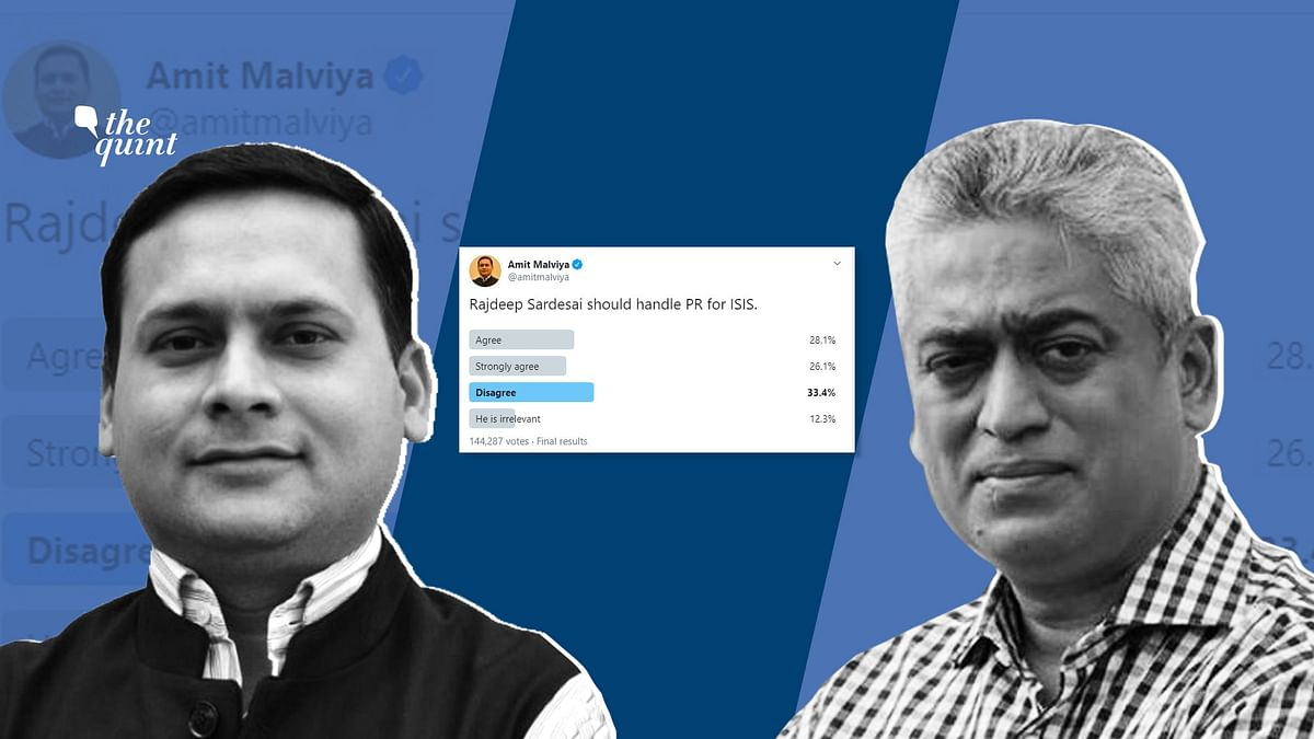 The options in Malviya's poll included 'Agree', 'Strongly agree', Disagree' and 'He is irrelevant'.
