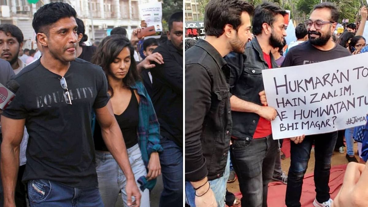 Farhan to Anurag, These Celebs Joined Anti-CAA Protest in Mumbai