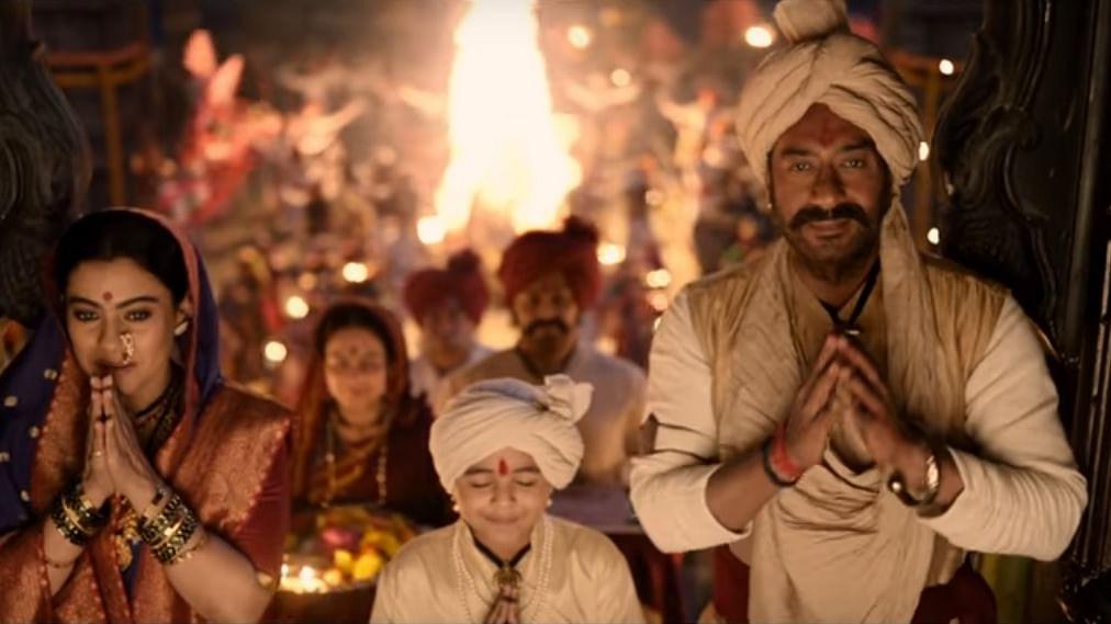 Ajay-Kajol Enjoy Festivities in 'Tanhaji' Song 'Maay Bhavani'