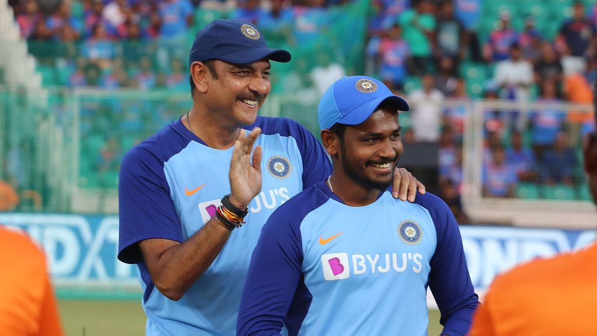 Sanju Samson was selected for the recently concluded T20I series against West Indies but he didn't get a game.