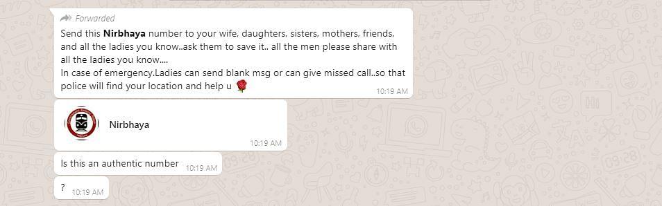 Screenshot of the message.