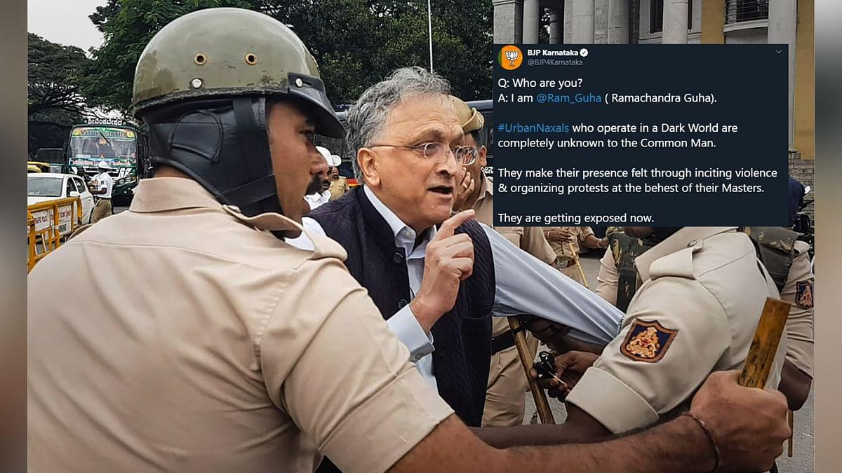 'Urban Naxal': BJP on Ramachandra Guha Detained During CAA Protest