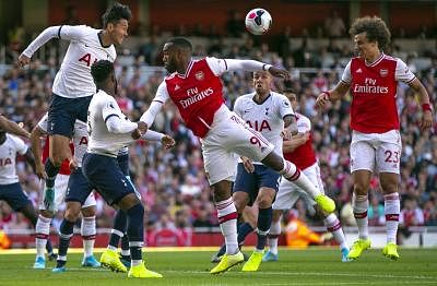 LONDON, Sept. 2, 2019 (Xinhua) -- Tottenham Hotspur