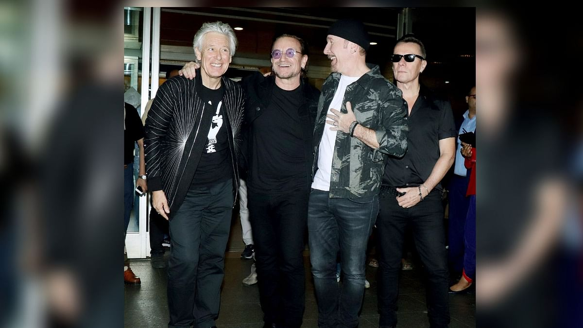 Pics: Hold Your Breath as Legendary Rock Band U2 Arrives in India