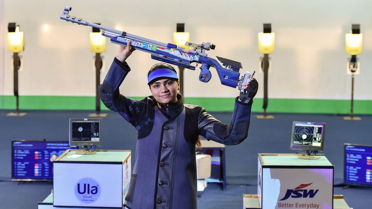 """<div class=""""paragraphs""""><p>File: Indian shooter Chandela shattered the world record on her way to the women's 10m air rifle <a href=""""https://www.thequint.com/sports/olympic-sports/apurvi-chandela-shooting-world-cup-gold-medal-10m-air-rifle-world-record-new-delhi#gs.6YpPpKf0"""">gold</a> with an incredible sequence of scores in the ISSF World Cup.</p></div>"""