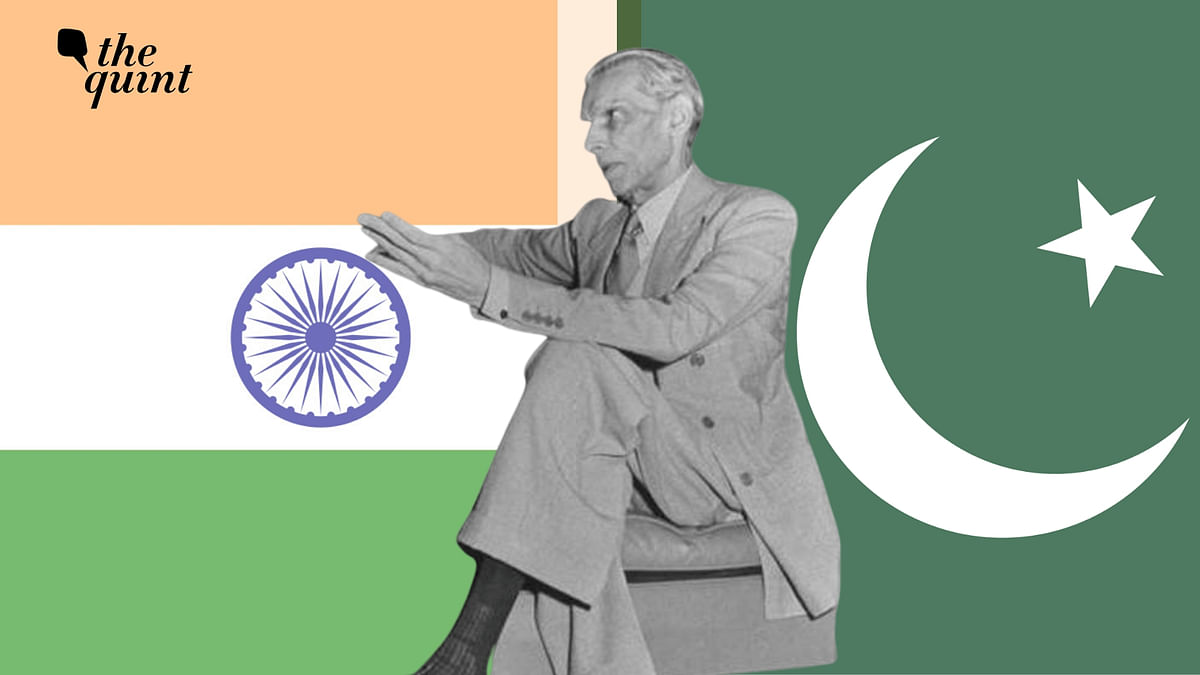 Image of Mohd Ali Jinnah and India and Pakistan's flags, used for representational purposes.