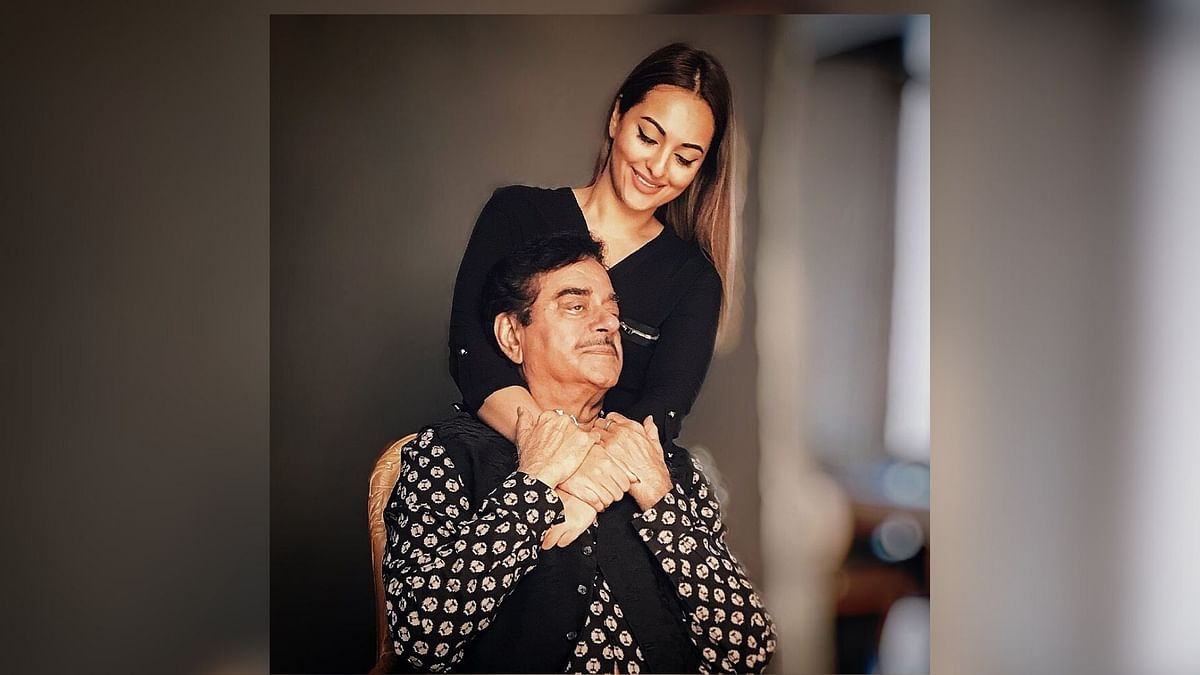 Sonakshi with her father Shatrughan Sinha.