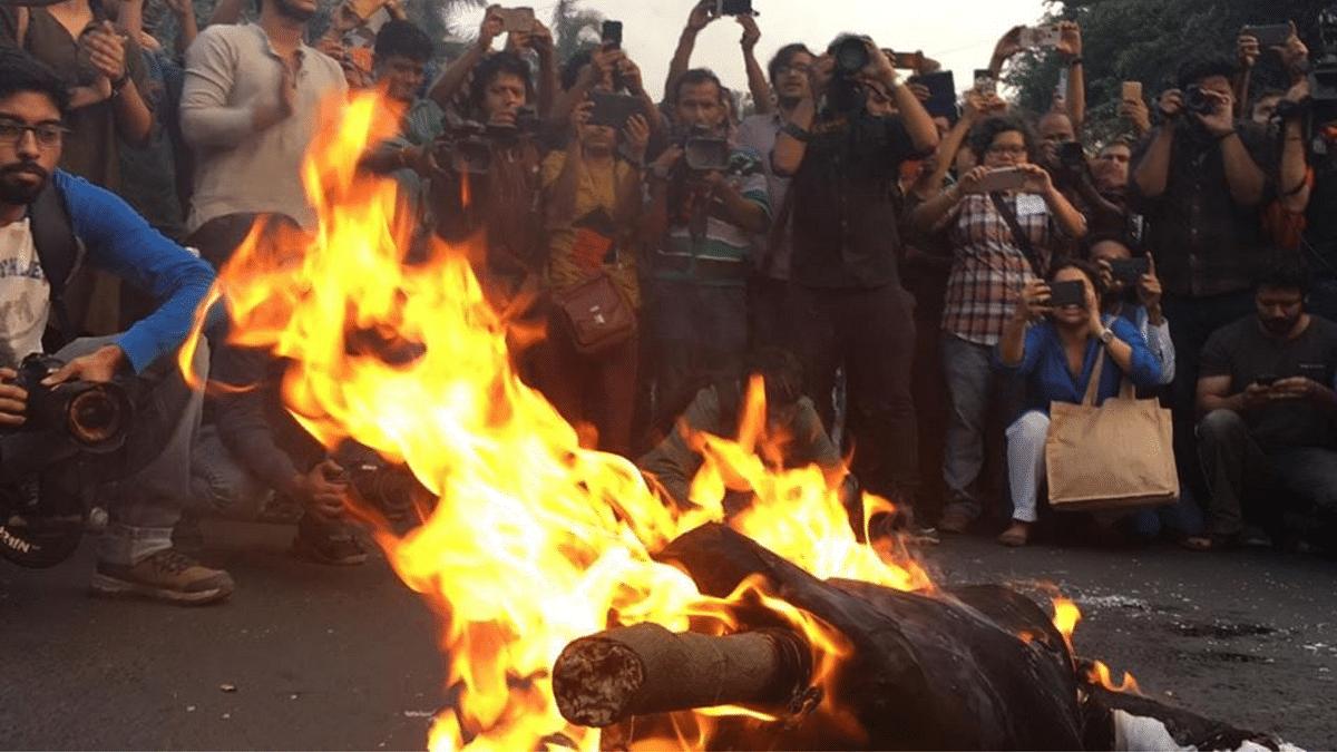Kolkata Adapts Bella Ciao Song for Modi-Shah, Burns Their Effigies