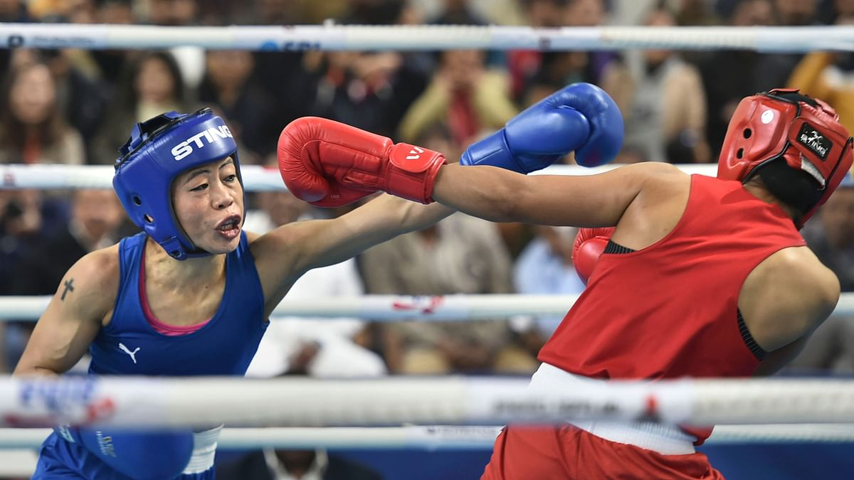 Nikhat Zareen alleged that Mary  had used cuss words at her inside the ring while Mary Kom walked off without shaking Nikhat's hands after the result was declared.