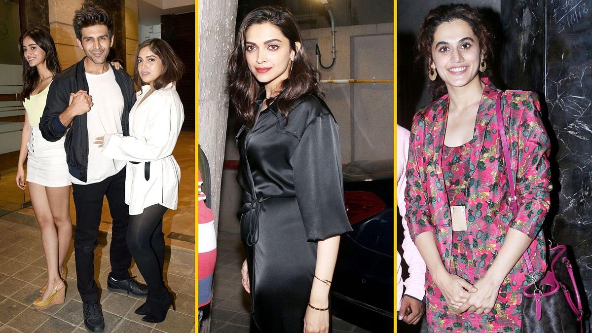 Pics: Kartik, Bhumi, Deepika, Taapsee Attend Rohini Iyer's Party