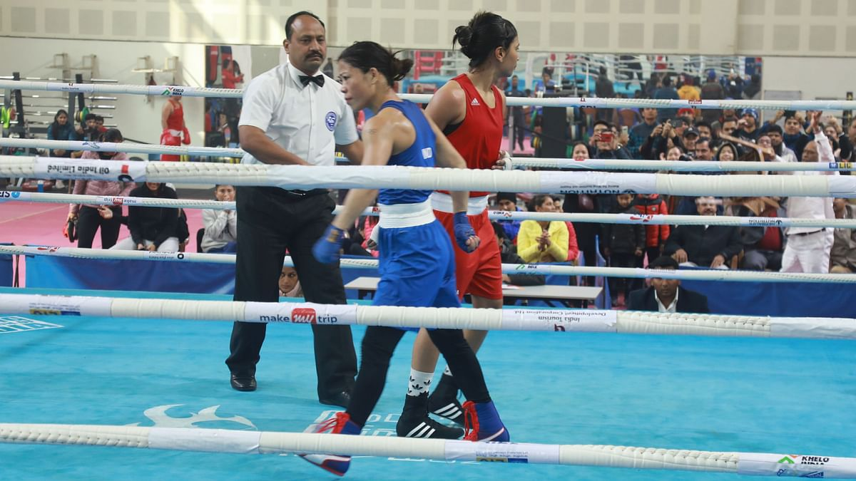 Mary Kom (left) walked off without shaking hands with Nikhat Zareen after the fight on Saturday, 28 December.