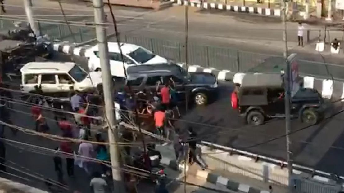 The incident happened near the Six Mile flyover on GS Road in Guwahati around 2 pm on Tuesday, 10 December.