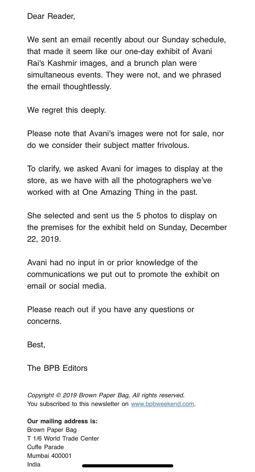 Avani Rai Responds After Kashmir Photo Exhibition Criticised