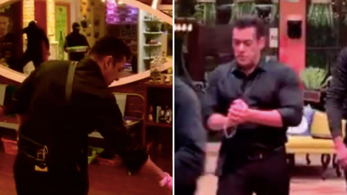 Salman Khan enters the <i>Bigg Boss </i>house.