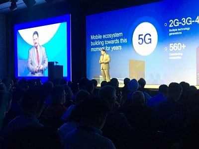 Cristiano Amon, President, Qualcomm Inc. at the Qualcomm 4G/5G summit in Hong Kong on October 23