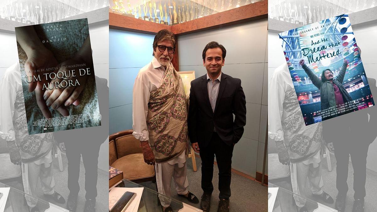 Filmmaker Aditya J Patwardhan with Amitabh Bachchan.