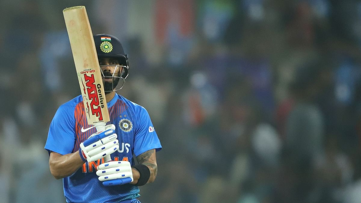 Virat Kohli scored unbeaten 94 off 50 balls including six sixes and four boundaries helped India get to 209 with eight balls and six wickets to spare.