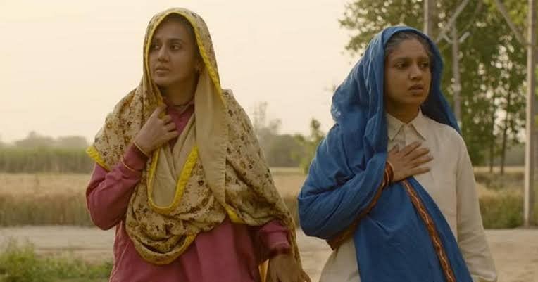 Taapsee Pannu and Bhumi Pednekar in <i>Saand Ki Aankh</i>.