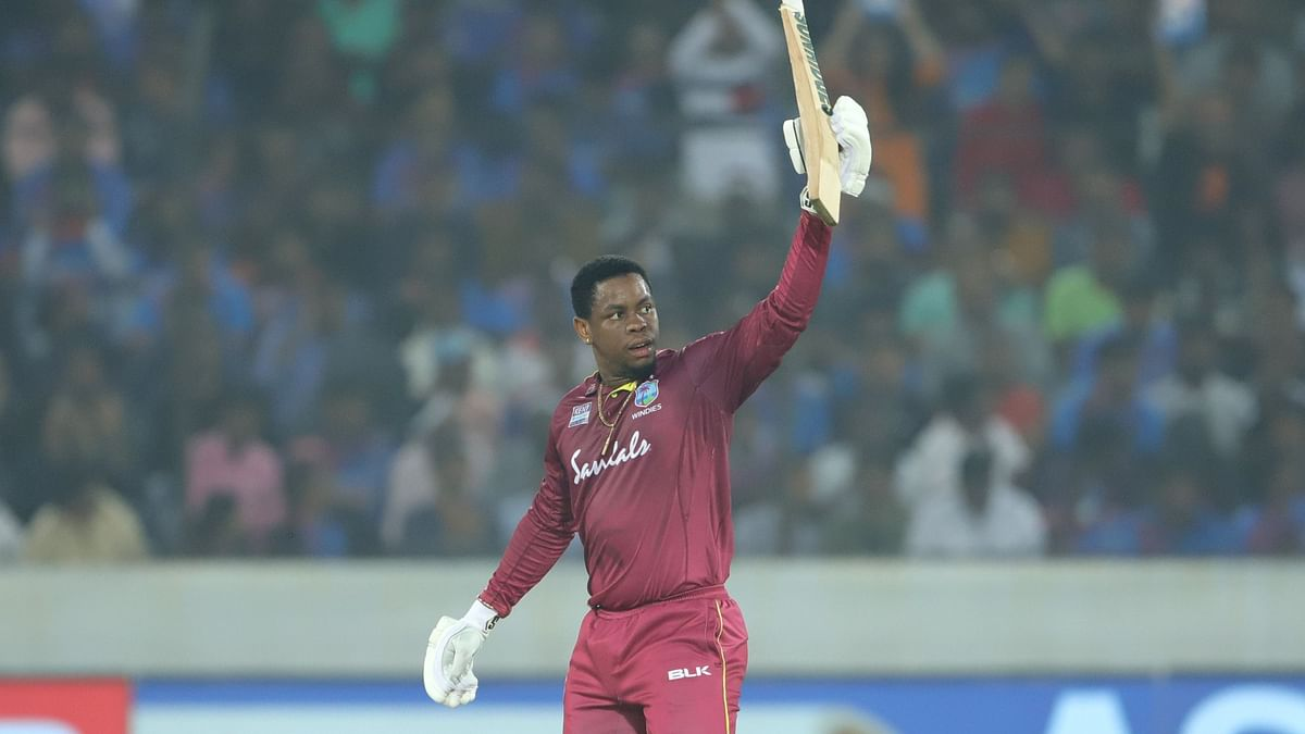 Hetmyer made 56 off 41 balls which was studded with 2 fours  and 4 sixes.