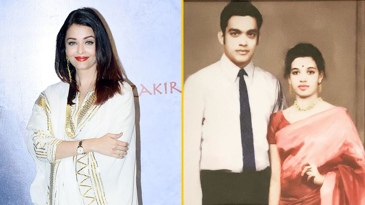 Aishwarya Rai honoured her parent's 50th wedding anniversary with a throwback picture.