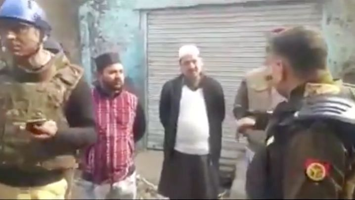 """Meerut SP was seen telling those protesting against the controversial CAA 2019 to """"go to Pakistan""""."""