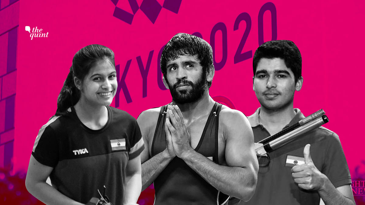 Manu Bhaker (left), Bajrang Punia and Saurabh Choudhury will be India's best  medal prospects at the Tokyo Olympics in 2020.