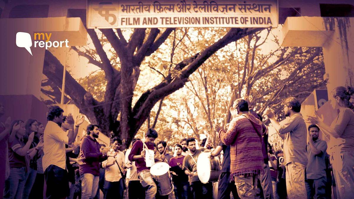 Hiked Tuition & Entrance Fees Unfair: FTII, SRFTI Students Protest