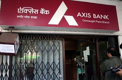 New Delhi: The Axis Bank in New Delhi