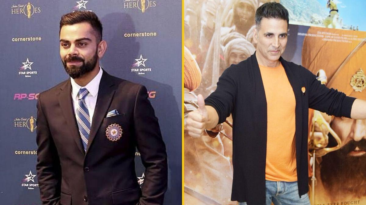 Virat Kohli and Akshay Kumar are on the Forbes Celebrity 100 List 2019.