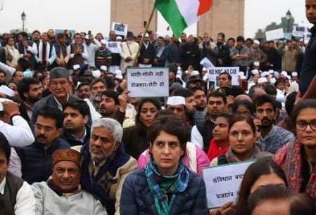 Congress general secretary Priyanka Gandhi at India Gate.