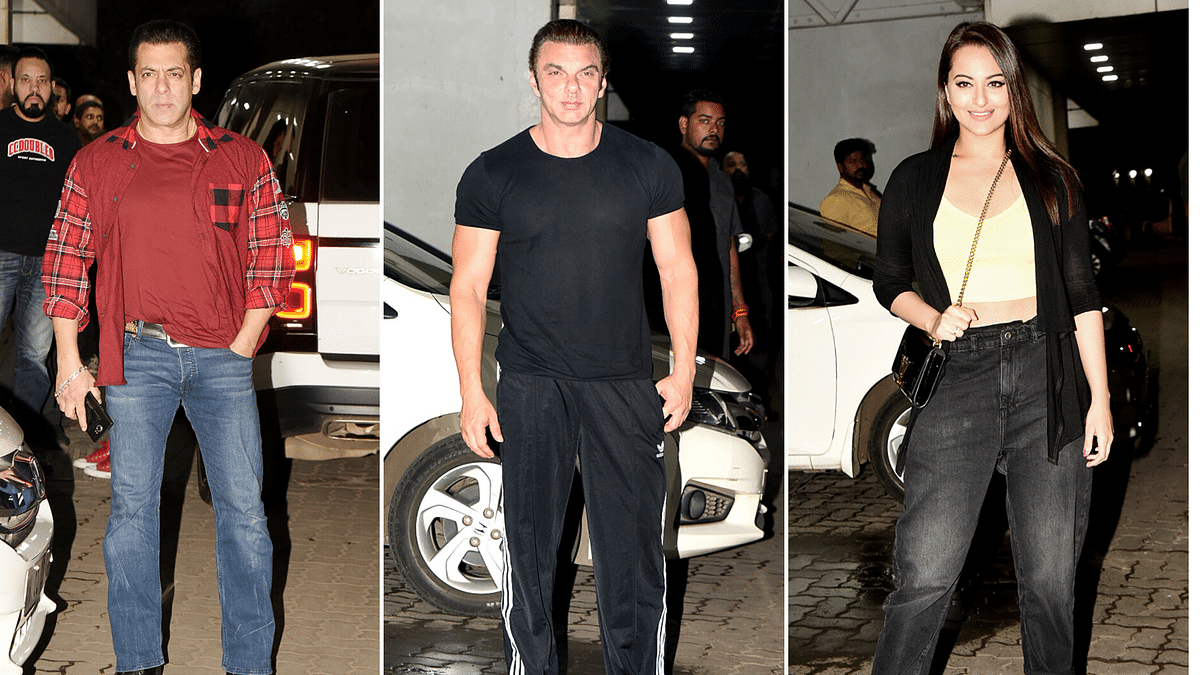 Salman Khan and Sonakshi Sinha were present at Sohail Khan's party among others.