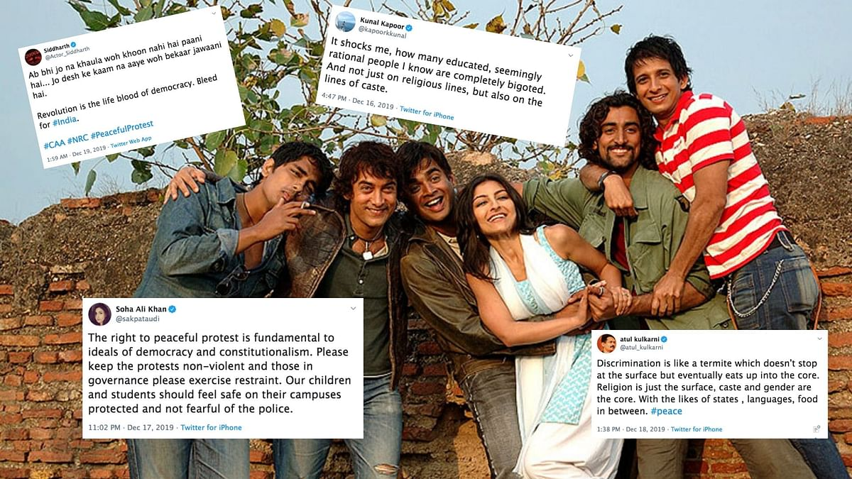 CAA Protests on Twitter Sees a 'Rang De Basanti' Reunion